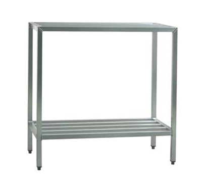 "New Age 1026 Welded Bar Style 2-Shelving Unit w/ Adjustable Feet, 48x24x48"", Aluminum"