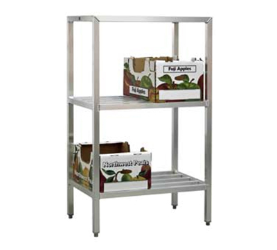 "New Age 1045 Welded Bar Style 3-Shelving Unit w/ Adjustable Feet, 48x24x36"", Aluminum"