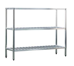 "New Age 1051TB Welded T-Bar Style 3-Shelving Unit w/ Adjustable Feet, 48x24x42"", Aluminum"