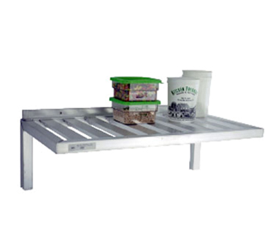 "New Age 1123 Wall Mounted Shelf w/ T-Bar Design & 500-lb Capacity, 20x60"", Aluminum"