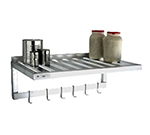 New Age 1121PR Wall Mounted Shelf w/ T-Bar Design 700-lb Capacity Single Bar Pot Rack 20x36""