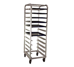 "New Age 1161 Mobile Platter Rack w/ Open Sides, Full Height & Slides for (6)12x26"" Platter"
