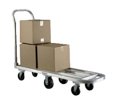 "New Age 1184 Low Boy Stock Truck w/ 14x39"" Platform & Removable Push Handle, Aluminum"