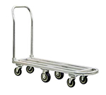 New Age 1183 Low Boy Stock Truck w/ 16x54-in Platform & Removable Push Handle, Aluminum