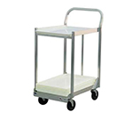 New Age 1194 2-Tier Sheet Pan Dolly w/ 800-lb Capacity & Sides, 44.5x21x30, Welded Aluminum