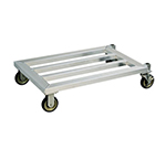 "New Age 1206 24x48"" Mobile Dunnage Rack w/ 1200-lb Capacity & 1-Tier, Square Bar"