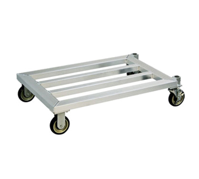 New Age 1207 24x60-in Mobile Dunnage Rack w/ 1200-lb Capacity & 1-Tier, Square Bar