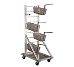New Age 1210 Fry Basket Rack w/ 18-Basket Capacity & 3-in Casters, 52.5x18x27-in, Aluminum