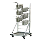 New Age 1215 Fry Basket Rack w/ 27-Basket Capacity & 3-in Casters, 52.5x24.5x27-in, Aluminum