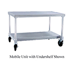 "New Age 12472GSCU 72"" x 24"" Mobile Equipment Stand for General Use, Undershelf"