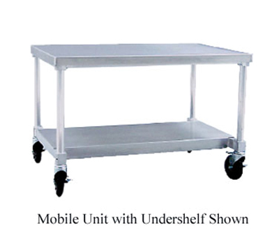 New Age 13036GSC Mobile Equipment Stand w/ Open Base & Removable Top, 24x36x30-in , Aluminum