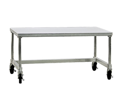 New Age 12448GSC Mobile Equipment Stand w/ Open Base & Removable Top, 24x24x48-in, Aluminum