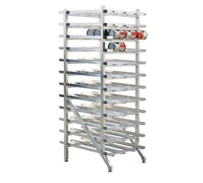 New Age 1254 73-in Stationary Can Storage Rack w/ Adjustable Feet & Sloped Glides, Aluminum