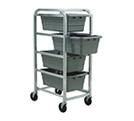 New Age 1262 Heavy Duty Lug Dolly w/ (4)8.5x16x25-in Lug Capacity & 5-in Casters, Aluminum