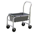"New Age 1265H Lug Dolly w/ Handle, (1)8.5x16x25"" Lug Capacity & 5"" Casters, Aluminum"