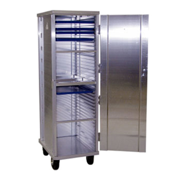 "New Age 1292 Full Height Mobile Pan Rack w/ Reinforced Door & Slides for (38)18x26"" Pans"