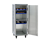 "New Age 1293 Mobile Pan Rack w/ Enclosed Cabinet & Slides for (32)18x26"" Pans, Aluminum"