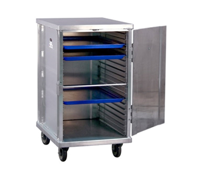 "New Age 1296 Mobile Pan Rack w/ Enclosed Cabinet & Slides for (20)18x26"" Pans, Aluminum"