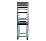 New Age 1306 Universal Mobile Open Frame Rack w/ 20-Slides, Square Tube Construction Aluminum