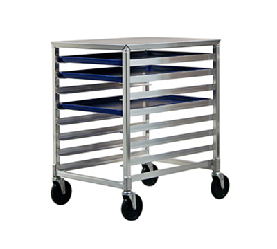"New Age 1313 Mobile Undercounter Pan Rack, Open Sides, (8)18x26"" Pan Capacity Stainless Top"