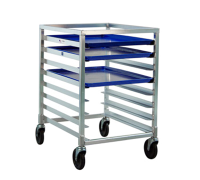 "New Age 1314 Mobile Undercounter Pan Rack w/ Open Sides & (8)18x26"" Pan Capacity, Aluminum"