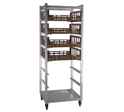 New Age 95136 Mobile Full Height Produce Crisper Rack w/ Open Sides & 7-Basket Capacity