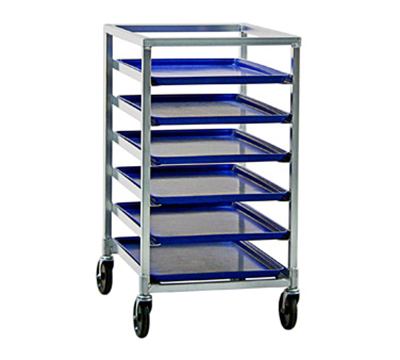 New Age 1322 20.38-in Mobile Pan Rack w/ Open Sides & (6)18x26-in Pan Capacity, Aluminum