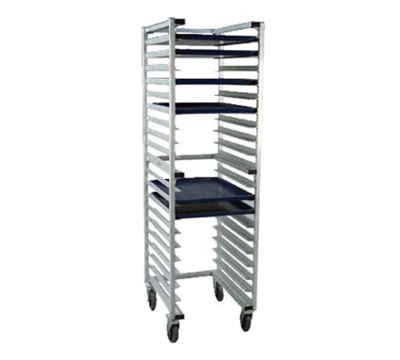 "New Age 1331U Mobile Full Height U Type Nesting Pan Rack, Open Sides (20)18x26"" Pan Capacity"