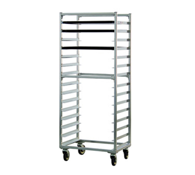 """New Age 1332S Mobile Full Height Pan Rack w/ Open Sides & (15)18x26"""" Pan Capacity, Aluminum"""