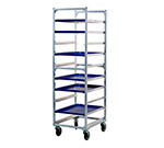 "New Age 1334 Mobile Full Height Pan Rack w/ Open Sides, (10)18x26"" Pan Capacity End Loading"