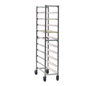 """New Age 1343 Mobile Full Height Platter Rack w/ (10)10x30"""" Platter Capacity & End Loading"""