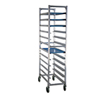 "New Age 1347 Mobile Full Height Platter Rack w/ (12)12x30"" Platter Capacity & End Loading"