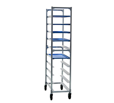 "New Age 1348 Mobile Full Height Platter Rack w/ (10)12x30"" Platter Capacity & End Loading"