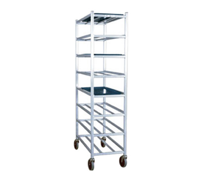 New Age 1355M Universal Mobile Full Height Platter Rack w/ 8-Shelves, End Loading & Open Frame