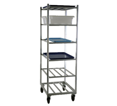 New Age 1356 Universal Mobile Rack w/ Open Design & 6-Shelves, Side & Front Loading, Aluminum