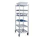 New Age 1356M Universal Open Mobile Rack w/ 6-Shelves, Side & Front Loading, Aluminum