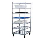 New Age 1357 Universal Mobile Rack w/ Open Design & 7-Shelves, Side/Front Loading, Aluminum