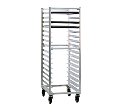 "New Age 1361 Mobile Pan Rack w/ Open Sides & Channels for (17)18x26"" Pans, Aluminum"