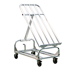 "New Age 1407 43x24"" Merchandising Rack w/ Adjustable Top & Rigid Caster Brakes, Aluminum"