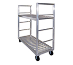 "New Age 1431 58"" Mobile Dunnage Rack w/ 2000-lb Capacity, Aluminum"