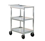 New Age 1440 16.5x27.75-in Open Bussing Cart w/ 3-Solid Shelves & 350-lb Capacity, Aluminum