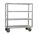 New Age 1452 Queen Mary Banquet Cart w/ 4-Open Shelves & 2500-lb Capacity, 66x62x29""