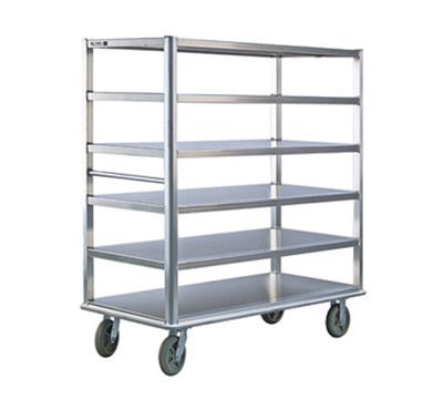 New Age 1455 Queen Mary Banquet Cart w/ 6-Open Shelves & 3000-lb Capacity, 66x62x29""