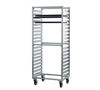"New Age 1461S Mobile Full Height Pan Rack w/ Open Sides & (38)18x26"" Pan Capacity, Aluminum"