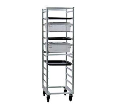 New Age 1482 Mobile Full Height Box Pan Combination Rack Open Sides & (13)18x26-Pan Capacity