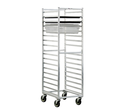 New Age 1484 Mobile Full Height Box Pan Combination Rack Open Sides & (17)18x26-Pan Capacity