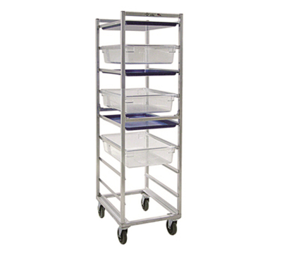 New Age 1486 Mobile Full Height Box Pan Combination Rack Open Sides & (9)18x26-Pan Capacity