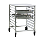 "New Age 1501 Half Height Steam Table Pan Rack, Open Sides, (18)12x20"" Pan Capacity Aluminum"