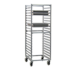 New Age 1509 Full Height Steam Table Pan Rack, Open Sides, (40)12x20-in Pan Capacity Aluminum