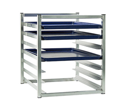 New Age 1610 23-in Insert Rack w/ Open Sides, (7)18x26-in Pan Capacity, End Loading, Aluminum